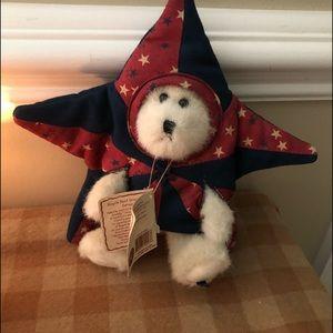 Rare Jointed Boyd's Teddy Bear Barnstar Patriotic